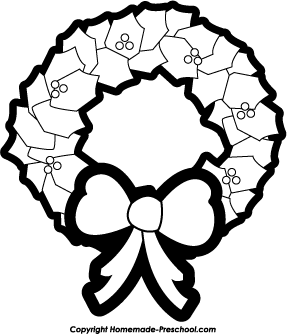 FREE White Wreath Clipart Pack #5234