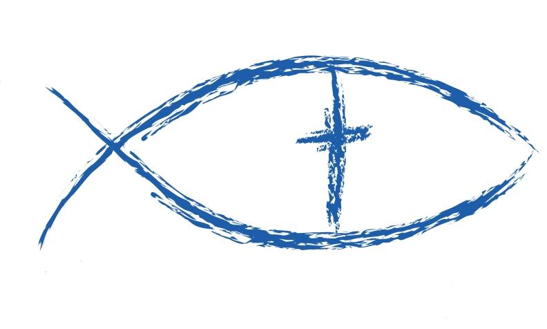 Cross and christian fish symbols clipart clipart suggest for Christian fish sign