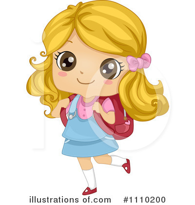 School Girl Clipart  1110200 By Bnp Design Studio   Royalty Free  Rf