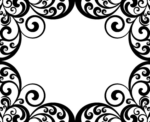 Swirl Border Damask Pictures   Clipart Best   Clipart Best