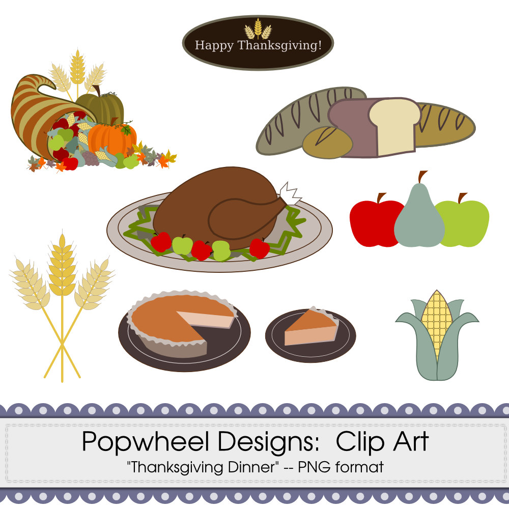 Thanksgiving Food Clipart - Clipart Kid