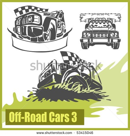 4x4 Off Road Symbol  Vector Illusration  Vinyl Ready    Stock Vector