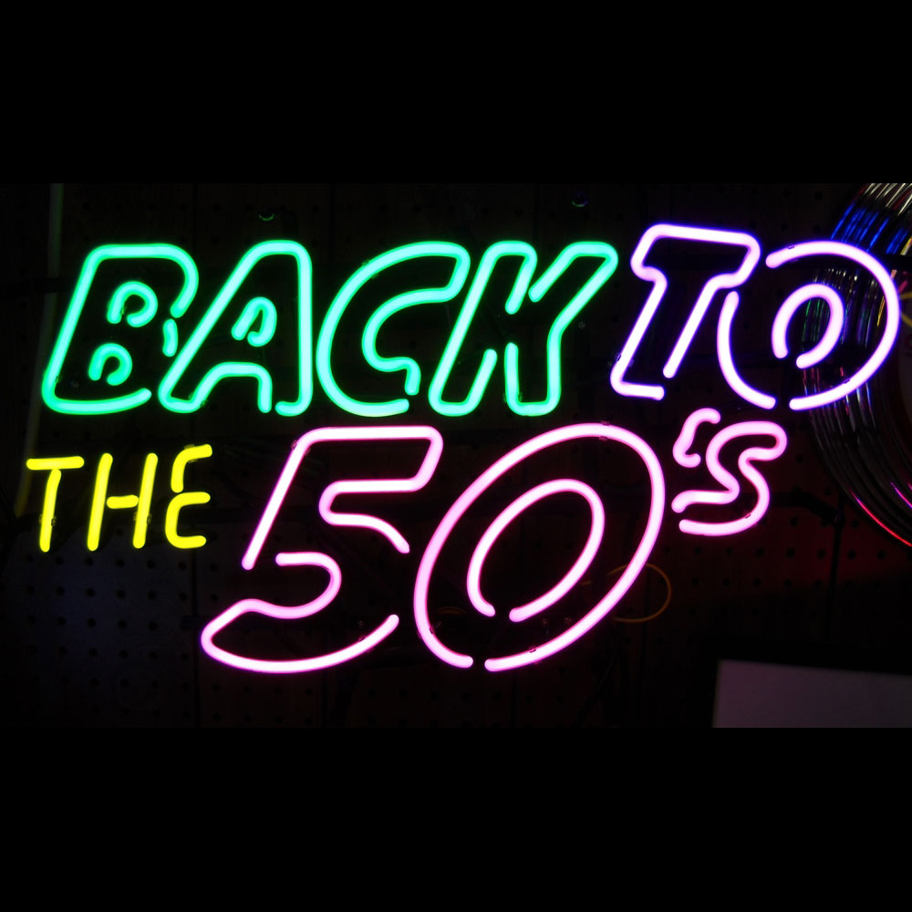 5backx Back To The 50s Neon Sign Neonetics