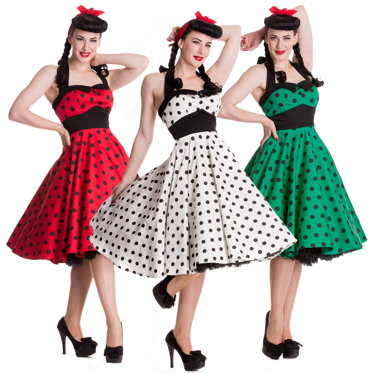 Adelaide Polka Dot Retro Rockabilly Vintage 50s Party Prom Sun Dress