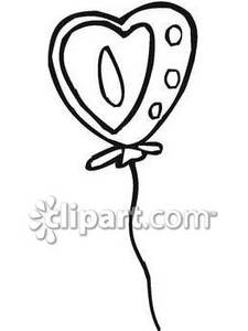Clip Art Black And White Heart Balloon Clipart - Clipart Kid