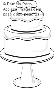 wedding cake outline clip art clip black and white tiered cake clipart clipart suggest 23366