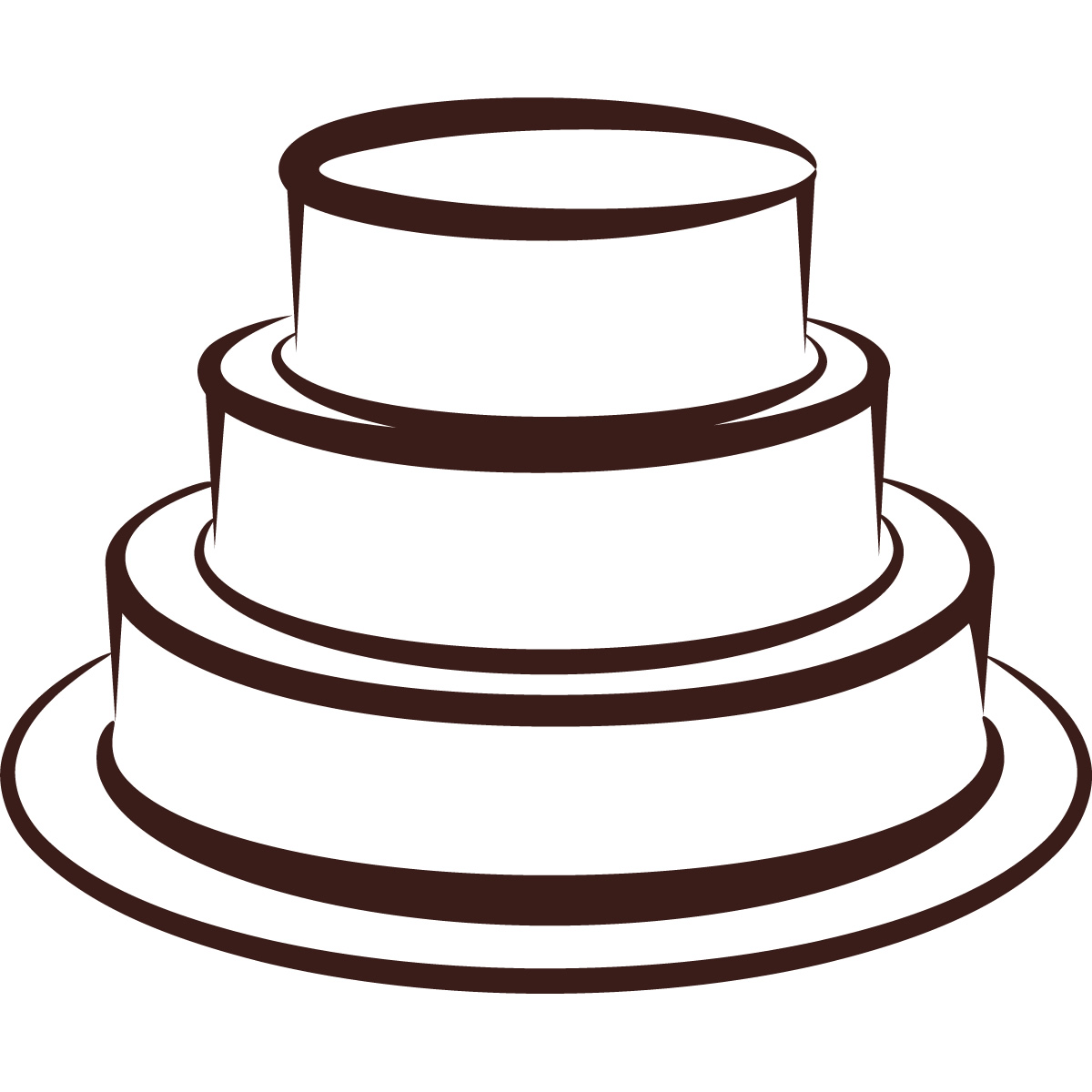 Cake Tier Stand Silhouette