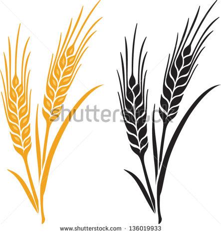 Wheat Black And White Horizontal Clipart - Clipart Kid