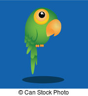 Green Parrot Vector Clipart Royalty Free  770 Green Parrot Clip Art