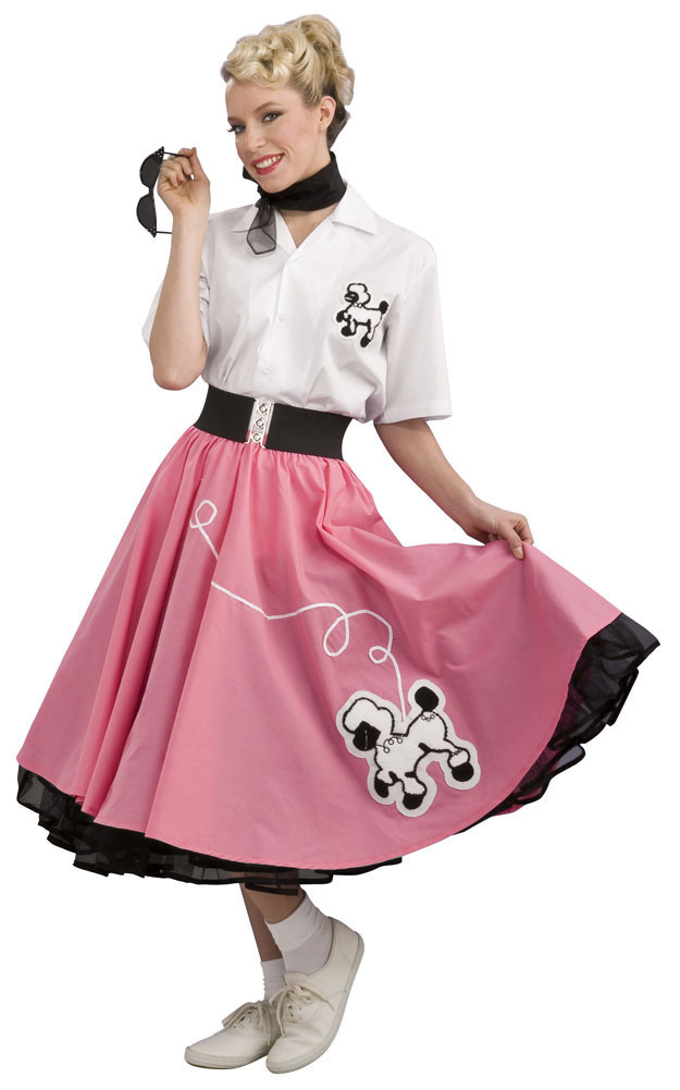 Home    50s Costumes    Grand Heritage Pink 50s Poodle Skirt Costume