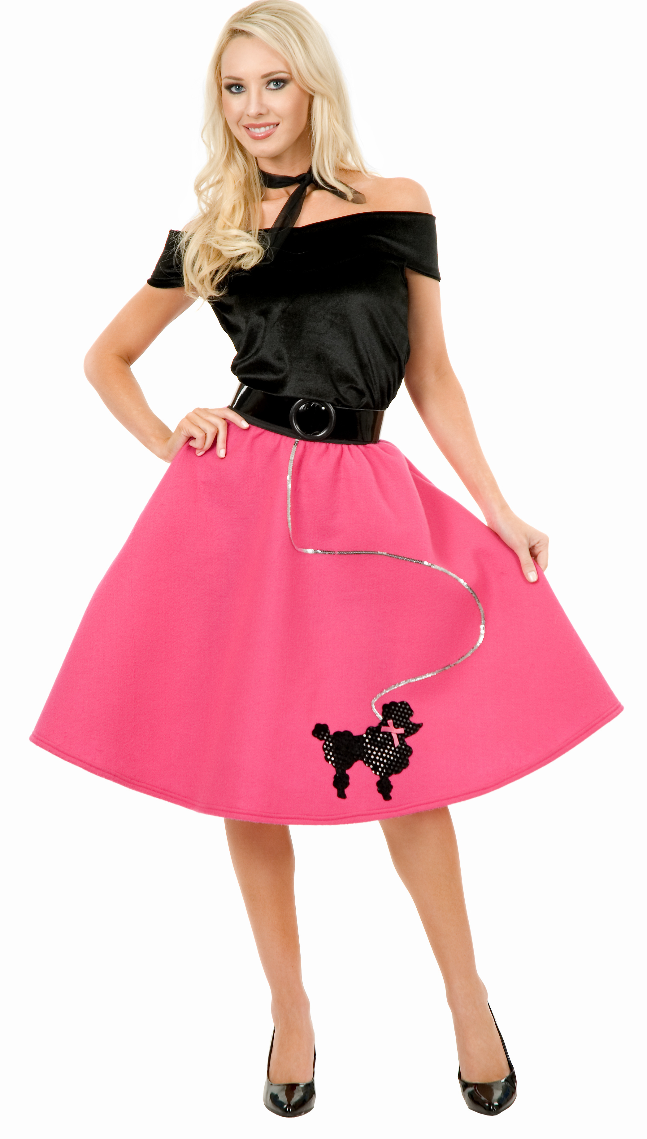 Home    50s Costumes    Poodle Skirt Costumes    Womens 50s Poodle