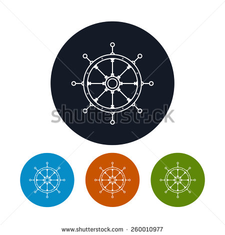 Icon Ship S Wheel The Four Types Of Colorful Round Icons Boat S Wheel