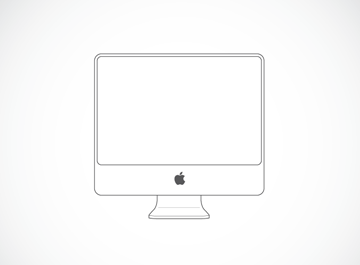 Imac Illustration Vector File   Clipart Me