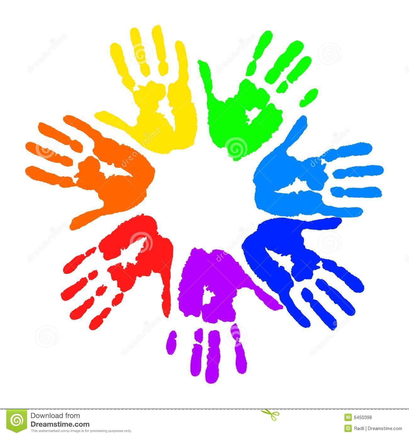 Handprint Heart Preschool Clipart - Clipart Kid