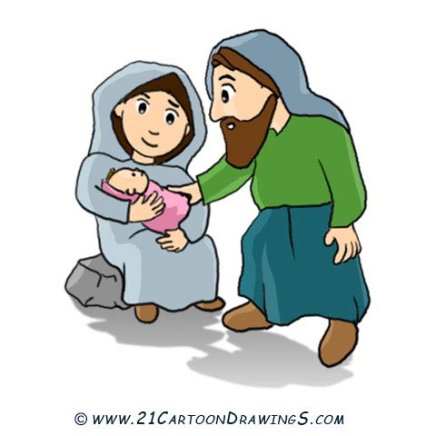 See Other Christmas Theme  Jesus Christ And Christmas Tree Cartoon