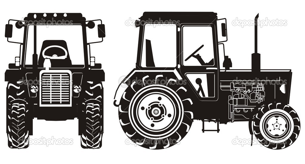 Tractor Royalty Library The Tractor To Eps Illustrator Vector A