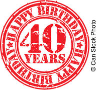 40 Years Vector Clipart And Illustrations