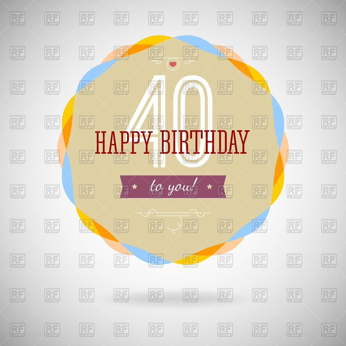 And Inscription 40 Years Download Royalty Free Vector Clipart  Eps