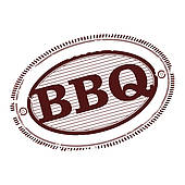 Bbq Pork Ribs Clipart Barbecue Stamp   Clipart