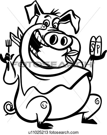 Clipart    Barbeque Bbq Cartoon Pig Pork   Fotosearch   Search