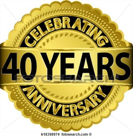 Clipart   Celebrating 40 Years Anniversary Go  Fotosearch   Search