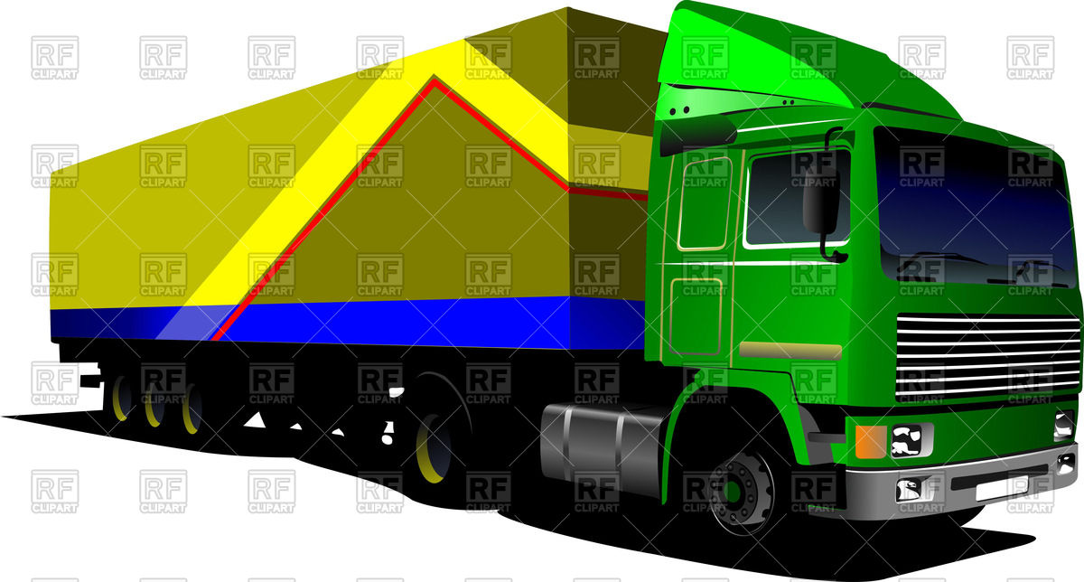 Green Truck  Lorry  52635 Download Royalty Free Vector Clipart  Eps