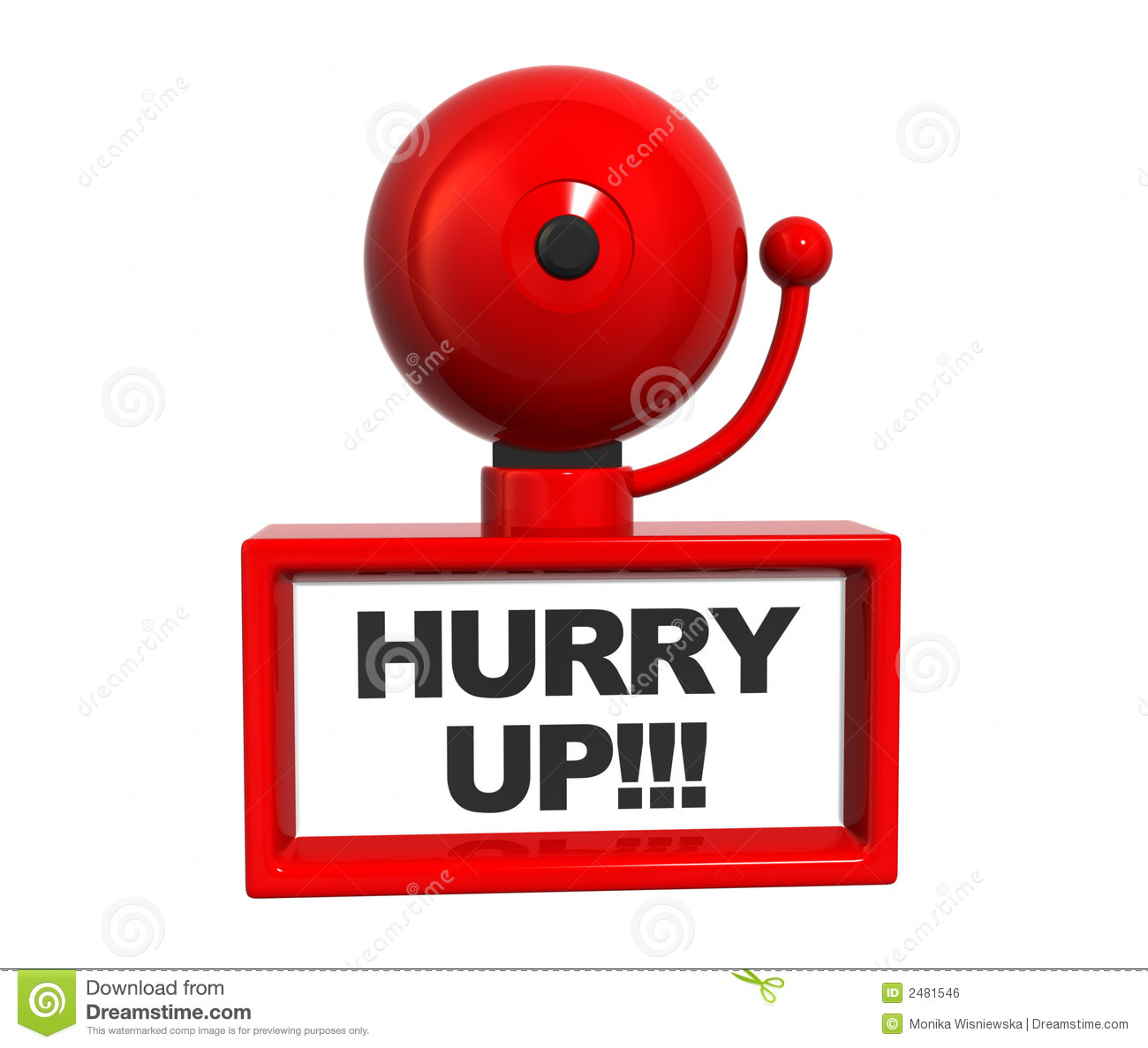 Hurry Up Bell Royalty Free Stock Image   Image  2481546