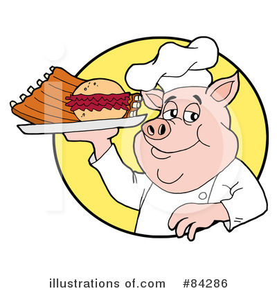 Pork Clipart  84286   Illustration By Lafftoon