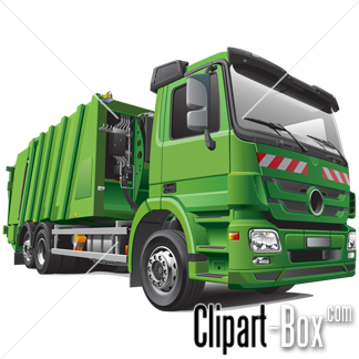 Related Green Garbage Truck Cliparts
