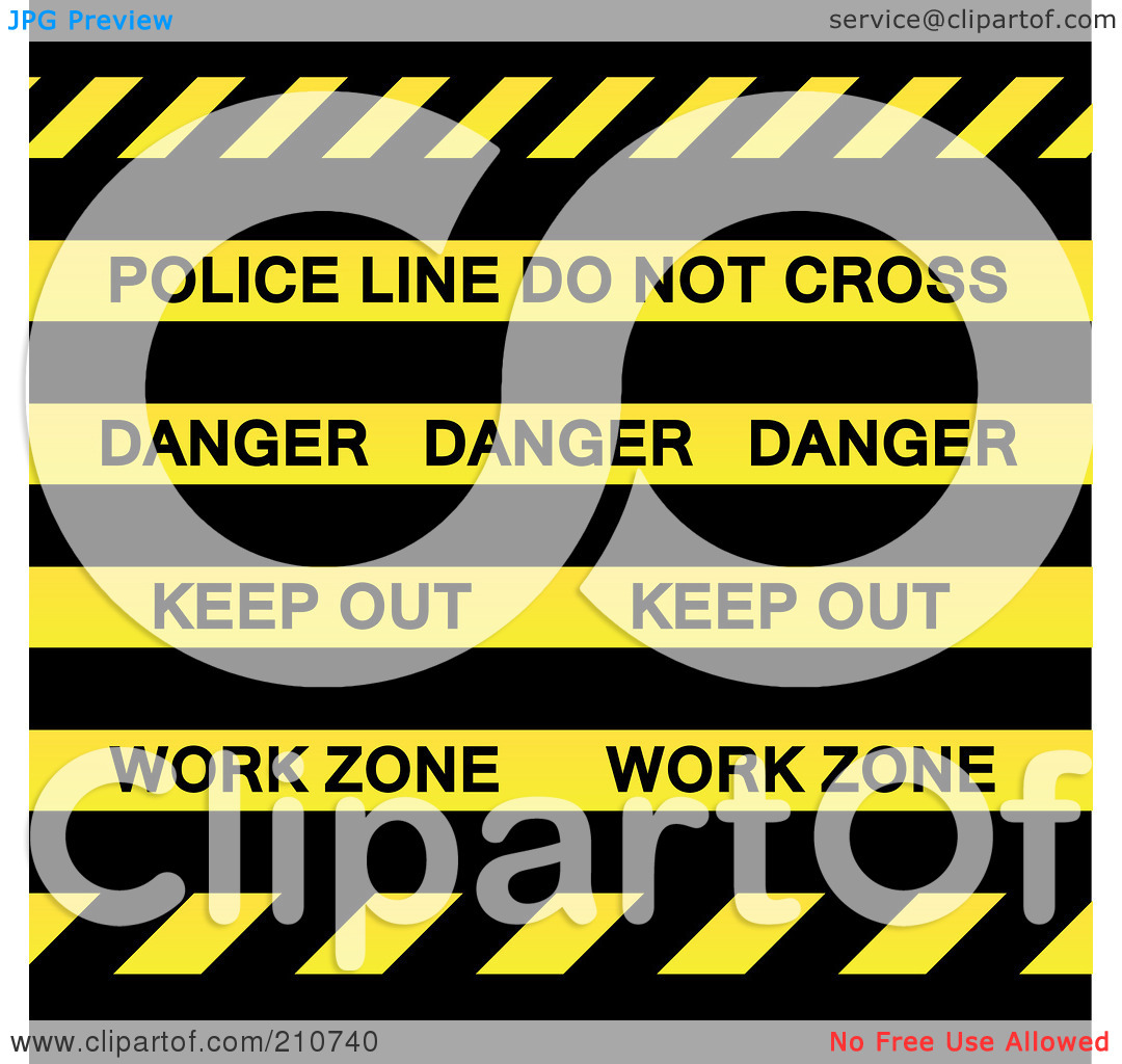 Royalty Free  Rf  Clipart Illustration Of Police Line Do Not Cross