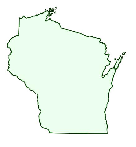 State Of Wisconsin Outline   Clipart Best