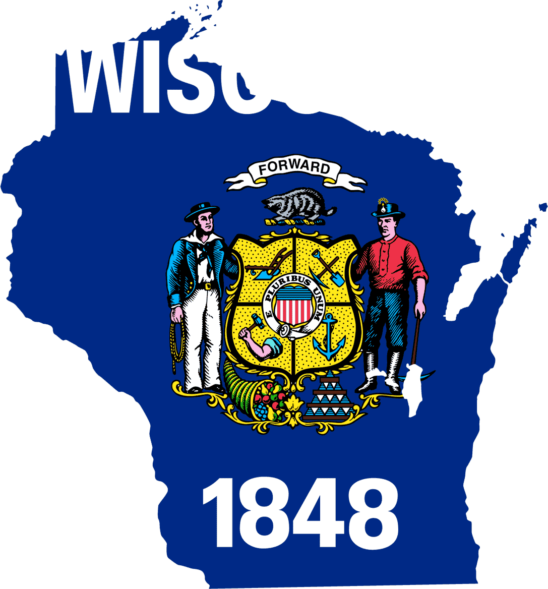 Wisconsin Flag 073011  Vector Clip Art   Free Clipart Images