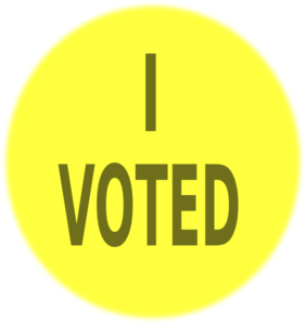 Yel Vote Sign Clip Art At Clker Com   Vector Clip Art Online Royalty