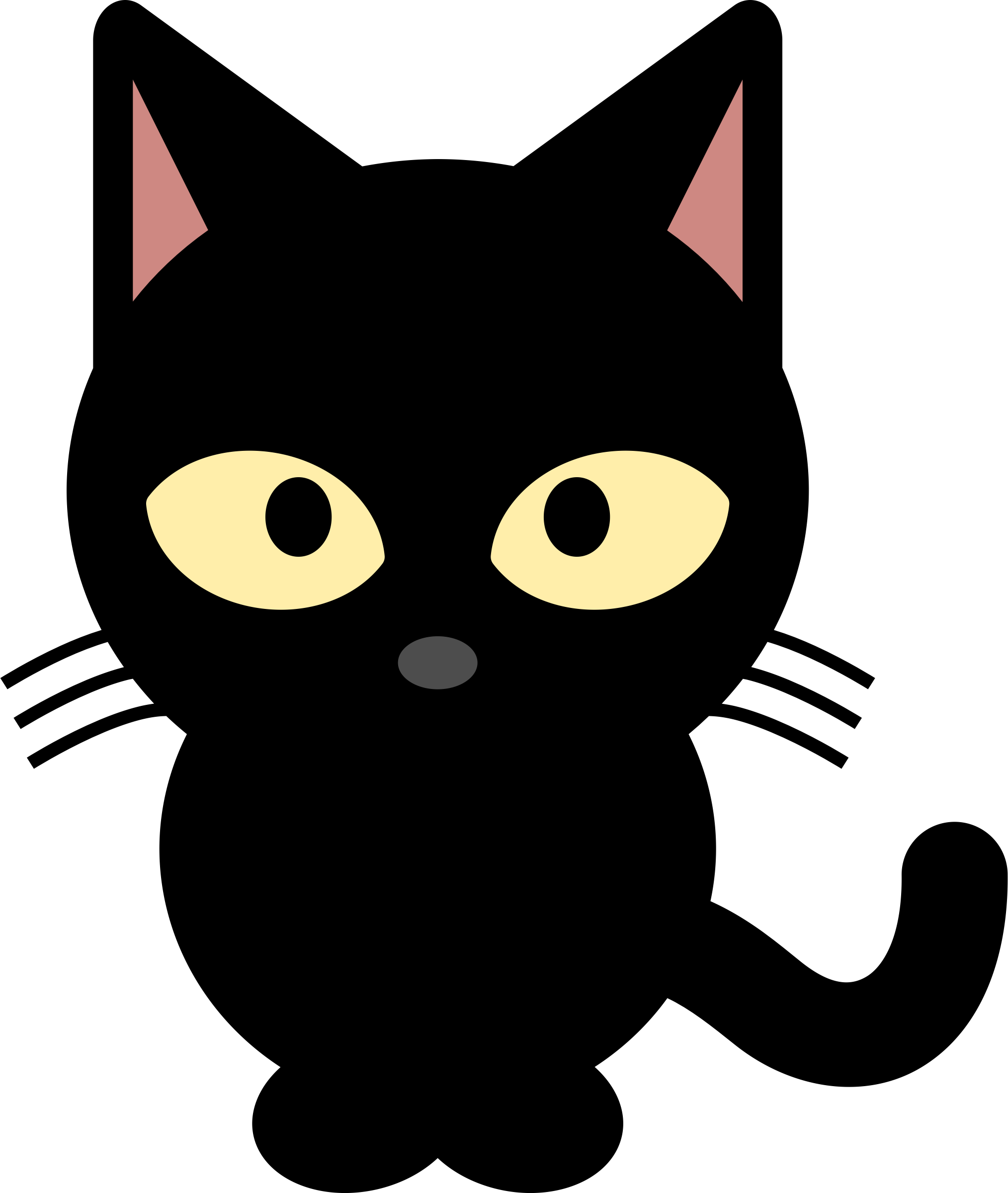 Black Cat Clipart - Clipart Kid