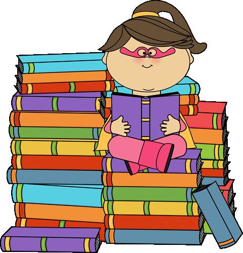 Super Reader Clipart - Clipart Kid