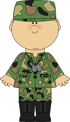 Boy In Army Uniform Clip Art Image   Boy In A Camoflauge Army Uniform