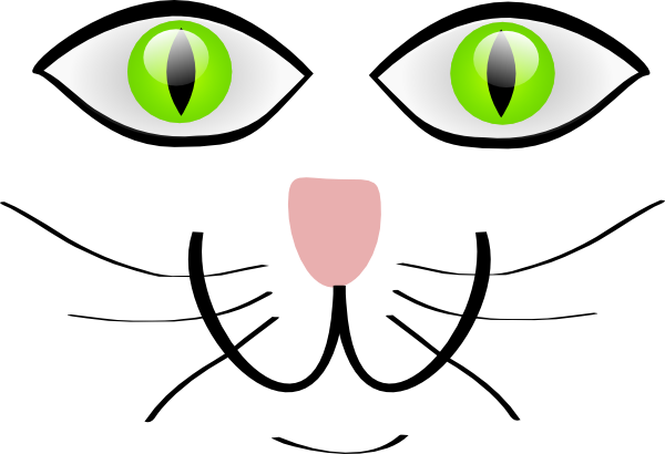 Cat Face Features Clip Art At Clker Com   Vector Clip Art Online