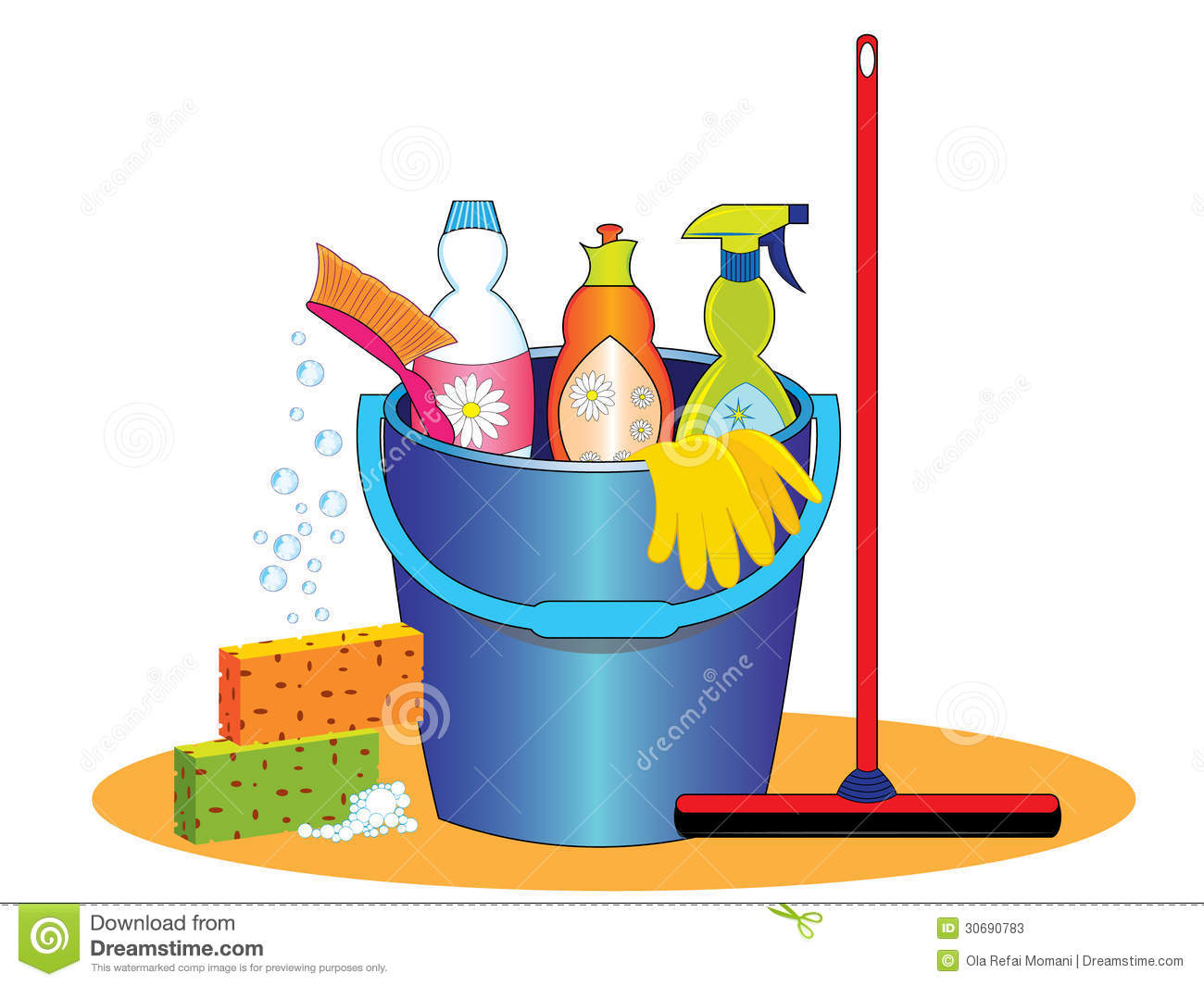 Cleaning Supplies Stock Photos   Image  30690783