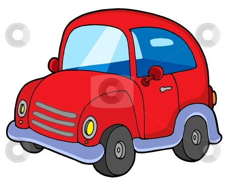 Cute Red Car Stock Vector Clipart Cute Red Car   Vector Illustration