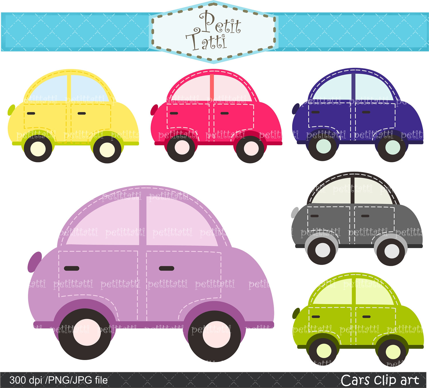 Digital Clip Art For All Use Cute Car Clip Art By Petittatti