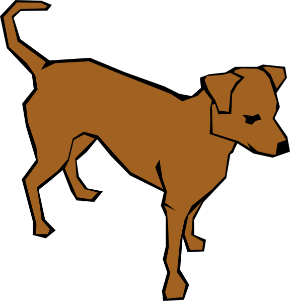 Dog Simple Drawing Clip Art Vector