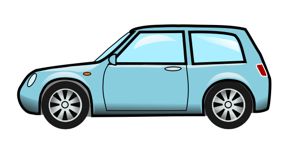 Free Cute Blue Car Clip Art