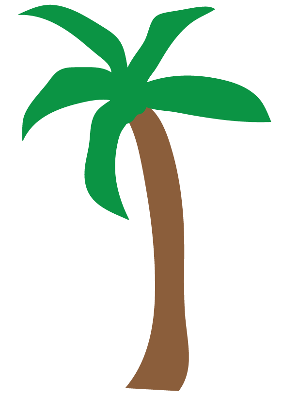Palm Tree Outline Clipart - Clipart Kid