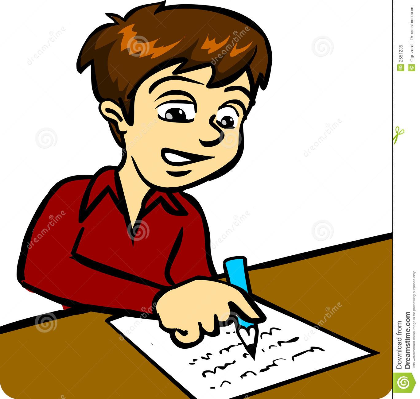 Clip Art Clipart Writing writing a letter clipart kid girl boy 2651235 jpg