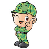 Instructions And Soldiers  Army Character   Royalty Free Clip Art
