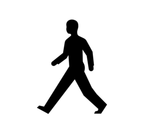 Male Body Walking Clip Art At Clker Com   Vector Clip Art Online