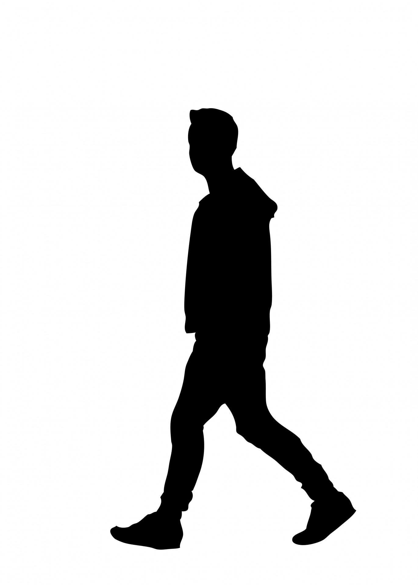 Man Walking Silhouette Clipart Free Stock Photo Hd   Public Domain
