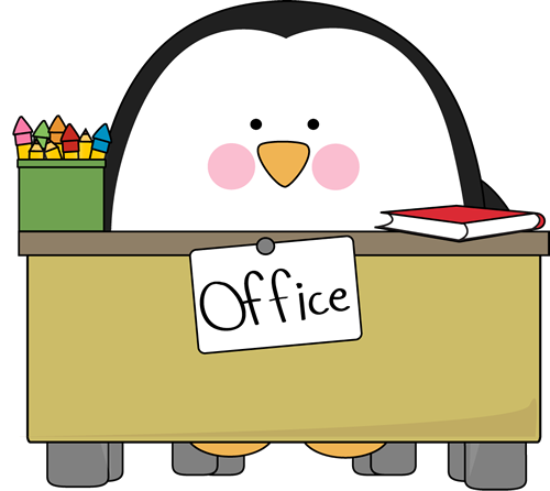 Office Penguin Clip Art Image   Penguin Sitting Behind An Office Desk