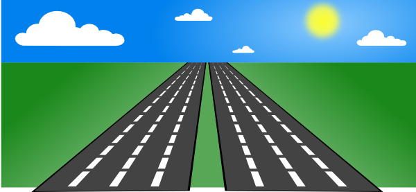 Open Road Clip Art At Clker Com   Vector Clip Art Online Royalty Free