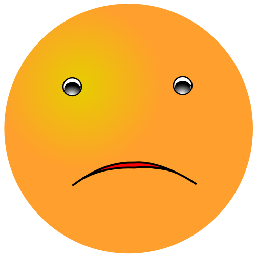 Orange Smiley Frown   Http   Www Wpclipart Com Smiley Orange Smiley